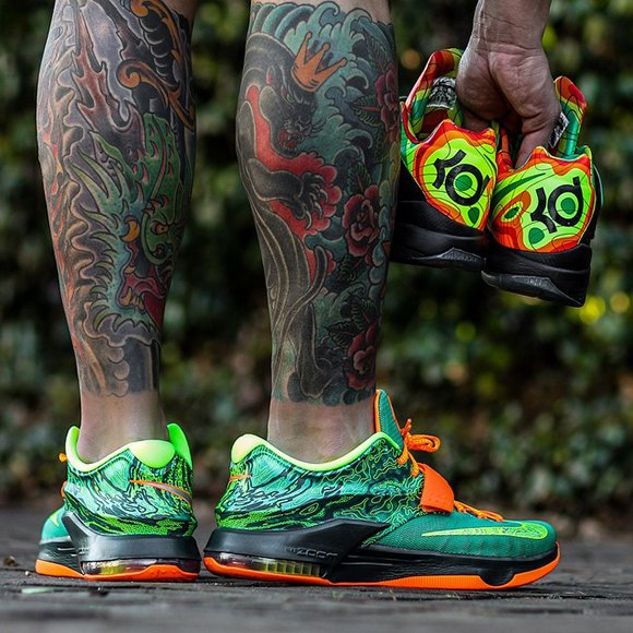 Nike KD 7 Weatherman On Foot