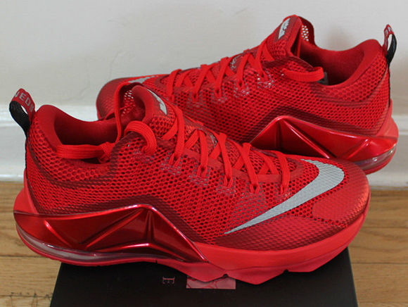 Nike LeBron 12 Low 'All Red' (Red October) | SneakerFiles