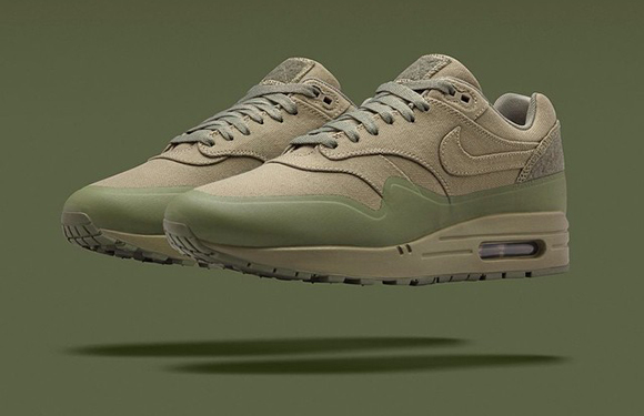 new concept 51ab6 67153 Olive Nike Air Max 1 Patch