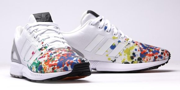 Adidas Zx Flux White And Color