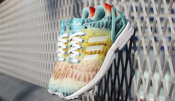 buy popular e213a e215f adidas ZX Flux 'Rainbow Feather' | SneakerFiles
