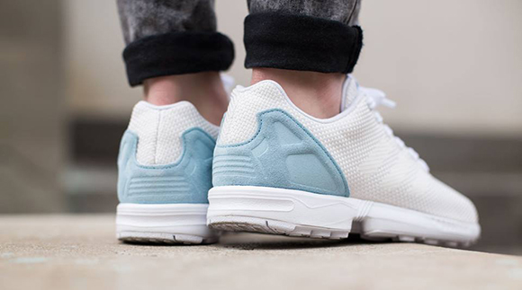 adidas ZX Flux Weave Off White Blush Blue