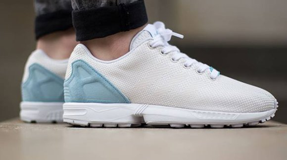 d185561bbf0 adidas ZX Flux Weave Off White   Blush Blue