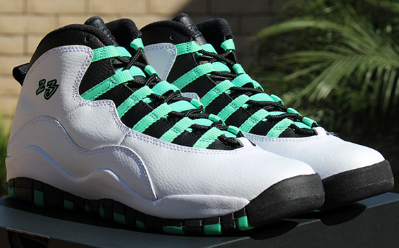 Air Jordan 10 Girls Verde Green