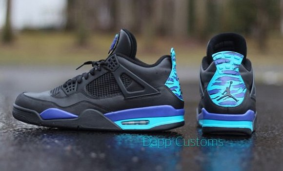 60b0699155eb Air Jordan 4  Aqua  Custom