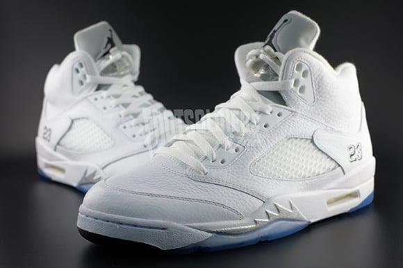 new concept 29522 6fa4e Air Jordan 5 White / Metallic Silver 2015 Retro | SneakerFiles