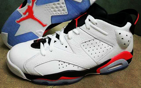 Air Jordan 6 Low White Infrared Black