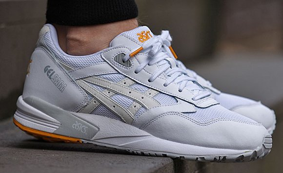 asics gel saga white