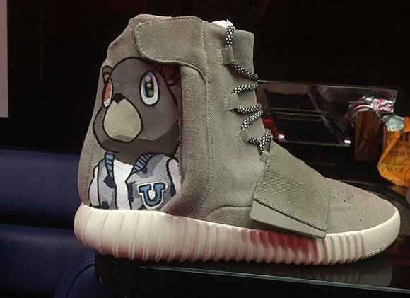 online retailer 33990 154d6 Chris Brown Customized adidas Yeezy 750 Boost