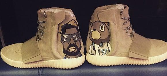 Chris Brown Customized adidas Yeezy 750 Boost