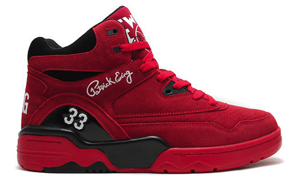 Ewing Athletics Guard Red Suede Release Date