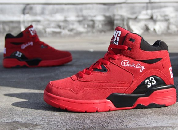 new york 67961 51443 Ewing Athletics Guard Red Suede Release Date