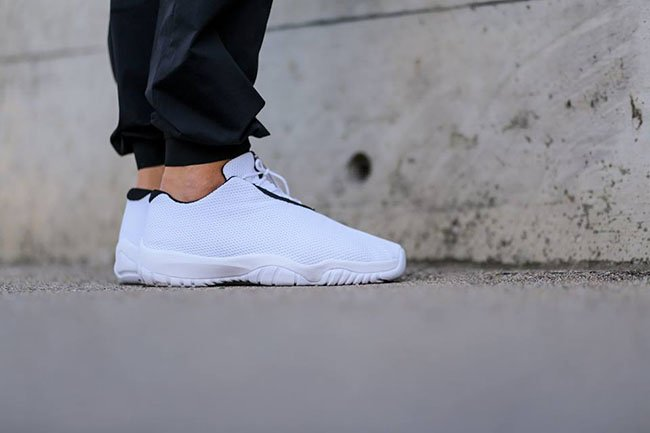 Jordan Future Low White Black On Feet