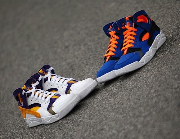 uk availability ed8fb b78e7 Nike Air Flight Huarache Knicks Lakers