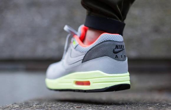 Nike Air Max 1 FB Wolf Grey Liquid Lime Pink