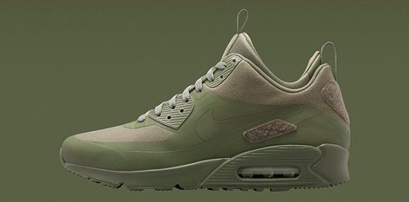 Nike Air Max 90 Sneakerboot Olive Green
