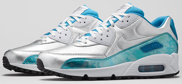 Nike Air Max 90 Womens Chrome Color Blue