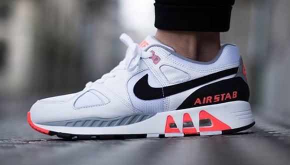 Nike Air Stab White Black Hot Lava