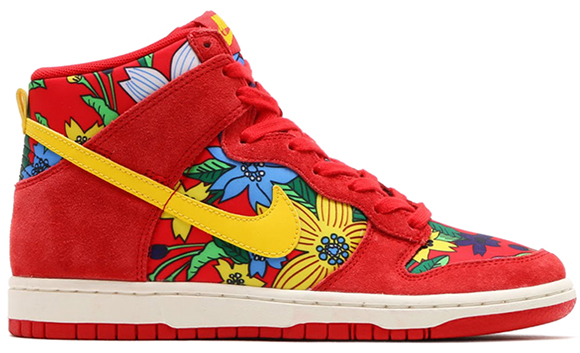 sale retailer e9774 1e318 Nike Dunk High Womens Aloha Red