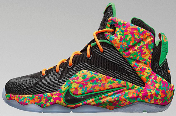 Nike LeBron 12 GS Cereal Fruity Pebbles Release Info