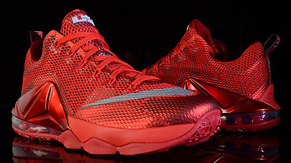 8b0cc612eafd9 well-wreapped Nike LeBron 12 Low All Over Red Launching at More Foot Locker  Stores