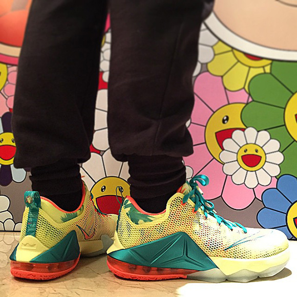 new products 8426d d24de ... australia nike lebron 12 low lebronold palmer on foot c3e93 3b5af