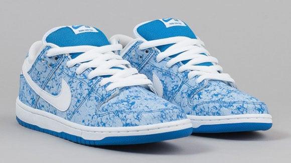 42132699c4ae Nike SB Dunk Low Blue Marble 420