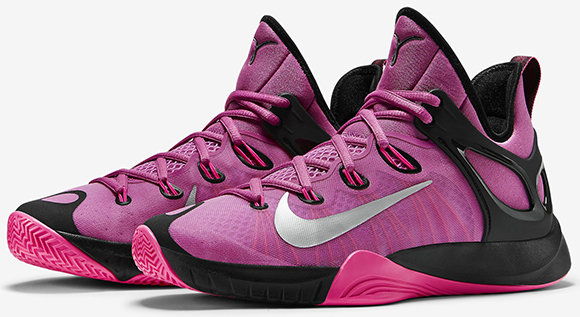 free shipping 45f15 e907b Nike Zoom HyperRev 2015 Think Pink Kay Yow Now Available