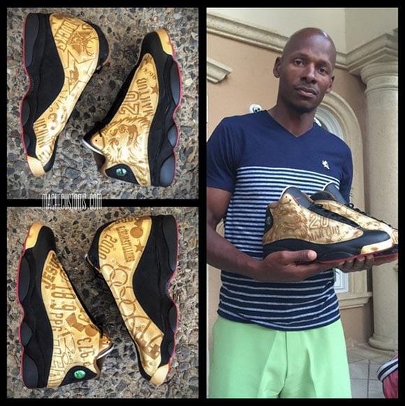 Ray Allen Receives Custom Air Jordan 13 Mache