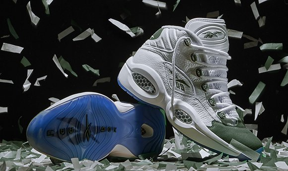 Reebok Question Mid Michigan State Green Fifteen Releasing