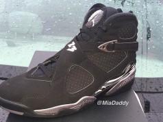 2015 Air Jordan 8 Retro Black Chrome
