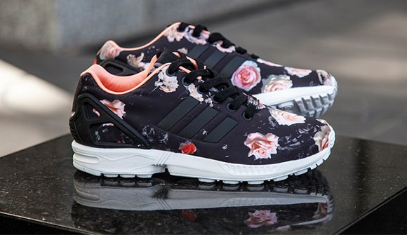 timeless design 182f6 f0f7e adidas ZX Flux 'Black Floral' | SneakerFiles