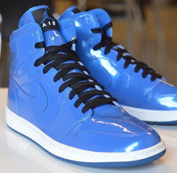 Air Jordan 1  Blue Patent Leather  Sample  9a30fb807f26