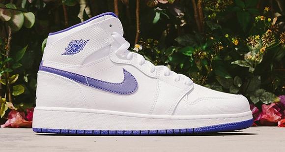 Air Jordan 1 Retro Girls White Purple
