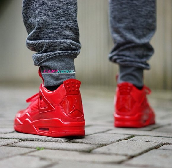 release date: 3c62d 459f6 Air Jordan 11Lab4 Red On Foot