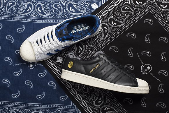 784cdf12cc4612 low-cost Bape x Undefeated x adidas Superstar