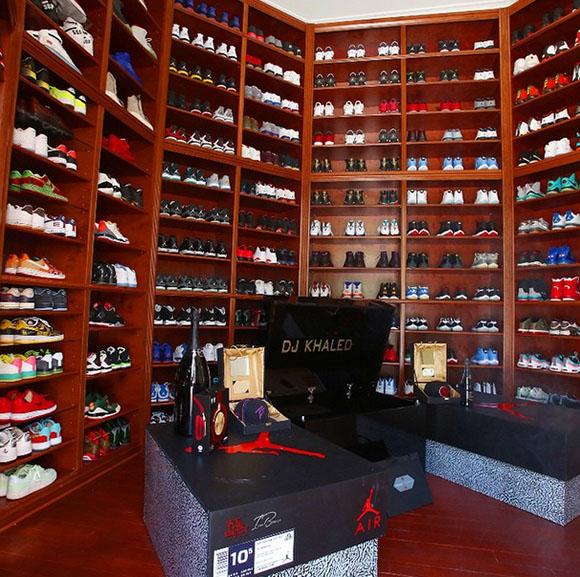 DJ Khaled Remodels Sneaker Room