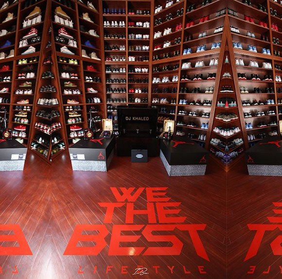 reputable site d39a3 d1de1 DJ Khaled Remodels Sneaker Room