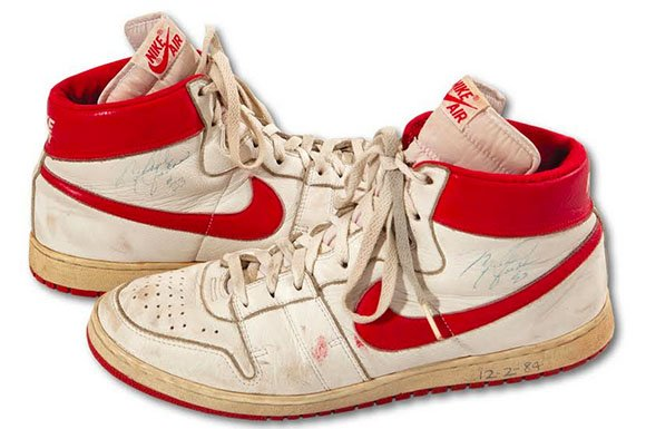 Michael Jordans Game Worn Signed Nike Air Ship Sells for $71,000