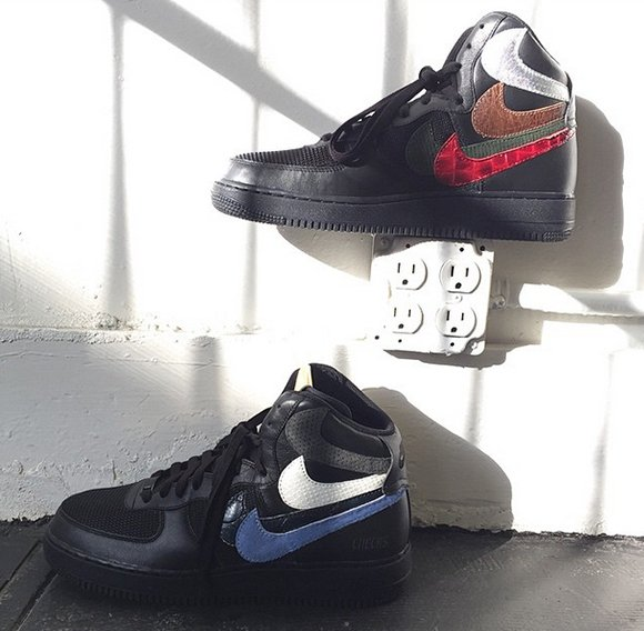 Nike Air Force 1 High Black Misplaced Checks