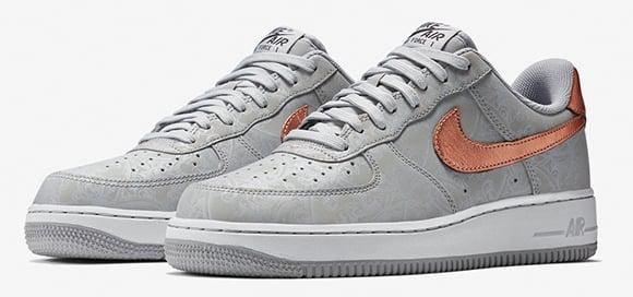 grey nike air force 1 low