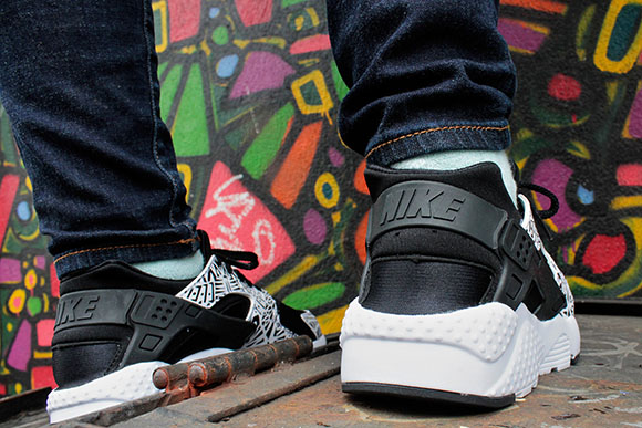 Nike Air Huarache Print GS Black White