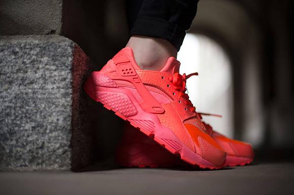 Zapatillas Nike Huarache Mujeres Lava Roja l01eDfudH