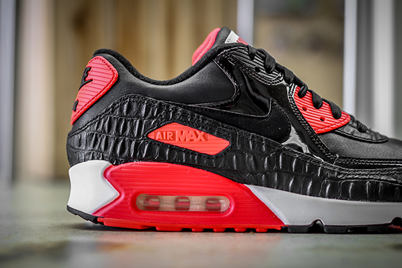 2fbe289877 durable service Nike Air Max 90 Infrared Croc Detailed Look ...