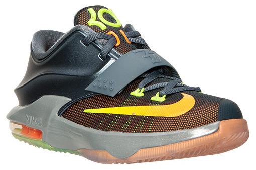 Nike KD 7 GS Blue Graphite Volt Bright Citrus