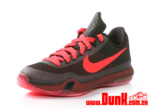 Nike Kobe 10 GS Black Bright Crimson