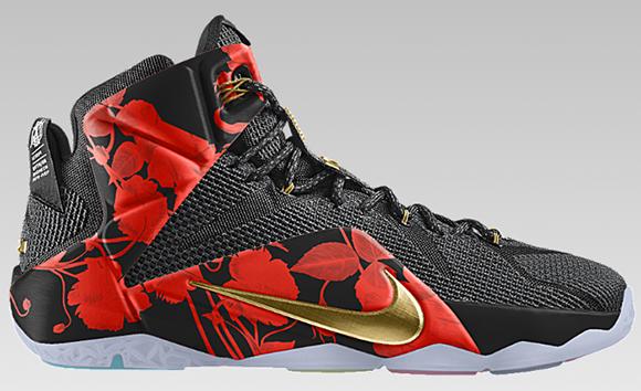Nike LeBron 12 Floral Option NikeiD