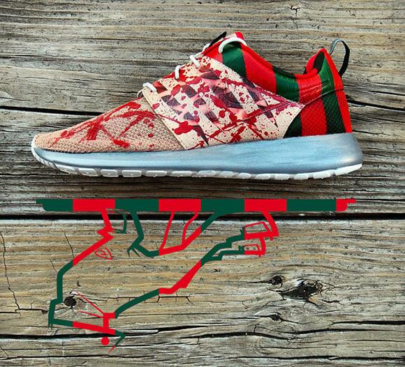 Nike Roshe Run Freddy Krueger Custom