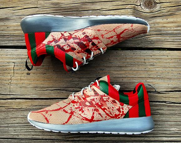 nike roshe run freddy krueger custom sneakerfiles
