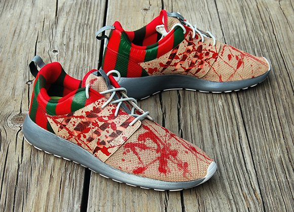 best service eb048 7650b Nike Roshe Run Freddy Krueger Custom